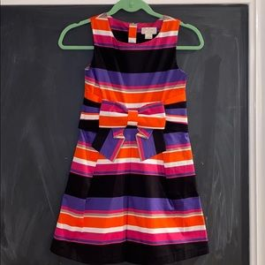 Kate Spade Girls Multicolored Striped Dress